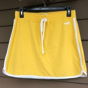 Hollister Yellow Skirt